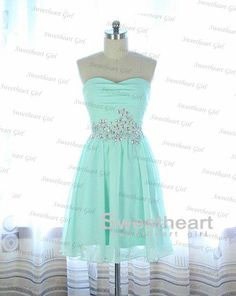 Processing time: 16 business days Shipping Time: 7-10 business days Category: Occasion Dresses Material: Chiffon Shown Color: Blue Silhouette: A-Line Embellishment: Beadings Hemline: Mini Neckline: Strapless Sleeve Length: Sleeveless Back Details: Zipper-up Fully Lined: Yes Built-In...