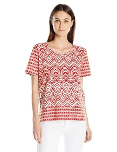 Alfred Dunner Women's Monotone Knit Top *** Tried it! Love it! Click the image. : Fashion