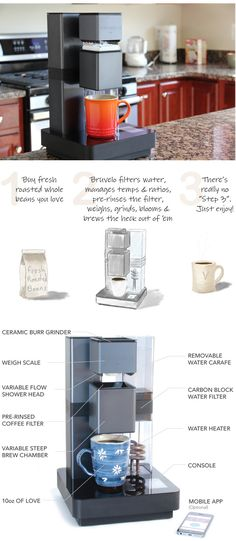 The Bruvelo is a smart, WiFi connected coffee brewer which automates the timeless tradition of a fine handcrafted coffee.