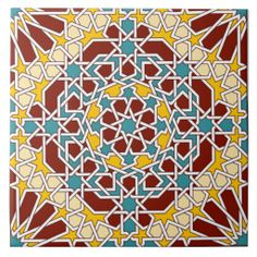 SOLD Islamic geometric pattern tile