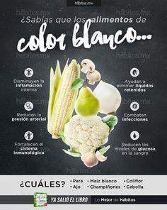 Hábitos Health Coaching | Sabías que los alimentos color blanco…
