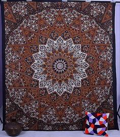 Brown Indian Tapestry Wall Hanging Star Mandala Bedspread Bohemian Decor RoomyDeal http://www.amazon.com/dp/B00UVYDSQ8/ref=cm_sw_r_pi_dp_.vNYwb1ZVXBD8