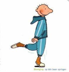 1 been springen Kids Gym, Yoga For Kids, Kids Sports, Body Parts Preschool, Brain Gym, Love My Job, Health Education, Bart Simpson, Clip Art