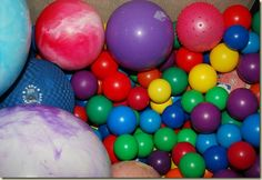 Re-purpose an old play pen into a ball pit. The high sides mean you don't have to pick up balls constantly!