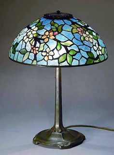 Apple Blossom Tiffany Lamp by Grotepass Studios