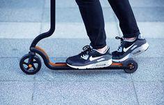 citybirds' minimalist 'raven' scooter is sleek, stylish + light as a feather  www.designboom.com