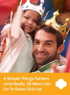 Dads play a special role in setting girls up for success. #parenting #raisinggirls #GirlScouts