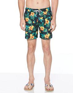 1ff102204d73 Original Penguin Floral Elastic Waist Stretch Swim Short - Men s