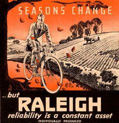 1934 Vintage Raleigh Bicycles Poster