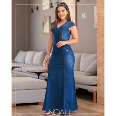 Denim Maxi Dress, Jeans Dress, Olivia Pope Style, Latest African Fashion Dresses, Moda Fashion, Bell Bottom Jeans, Ideias Fashion, Casual Outfits, Formal