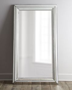 """""""Rosinna"""" Antiqued Mirror at Horchow.  Perfect size mirror to hide a built in jewelry wall box behind it.  The mirror could swing open/close and lock.  Could be in the walk in closet so that you benefit from the mirror as you get ready."""