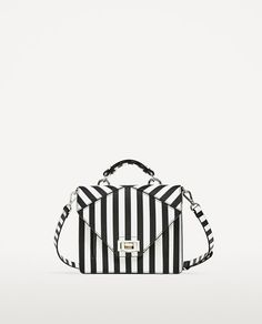 Image 2 of TWO-TONE STRIPED CROSSBODY BAG from Zara