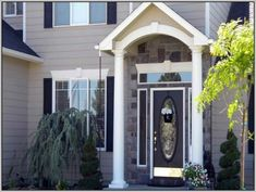 Front Door Colors For Gray Brick House | Home ideas | Pinterest ...