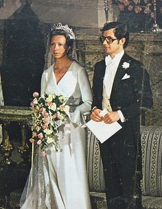 "Tord Magnuson and Princess Christina, Mrs. Magnuson. One of the ""Haga Princesses"" of Sweden, she is wearing the Connaught Tiara. Sister of current King."