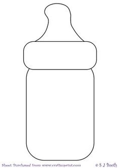 Baby Bottle Template on Craftsuprint designed by Sally Booth - Baby bottle… Baby Shower Cards, Baby Shower Parties, Baby Boy Shower, Baby Shower Gifts, Applique Templates, Applique Patterns, Moldes Para Baby Shower, Baby Shower Templates, Diy Bebe