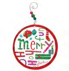 "Adorned with various holiday themed words and imagery, such as ""Merry"" and a few wrapped gifts, the Merry Medallian Glass Christmas Ornament has it all. Glass Christmas Tree Ornaments, Christmas Bulbs, Wrapped Gifts, Merry, Gift Wrapping, Holiday Decor, Fun, Happy, Gift Wrapping Paper"