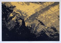 This screenprint is called Dreamscape 13, one of a series of 24 prints.
