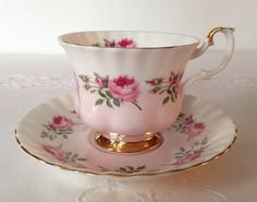 Royal Albert China Tea cup and Saucer by NicerThanNewVintage