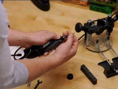 View the correct steps for attaching a mounting nut to a Dremel rotary tool - used with the Plunge Router and Work Station. Attachment method #3 relates to a...
