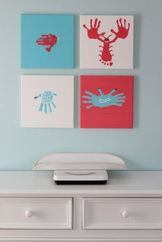 Awesome handprint artwork ideas! summer project for my neices and nephew.