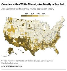 A Pew Map Shows That Minorities Became the Majority in 78 U.S. Counties from 2000 to 2013 - CityLab
