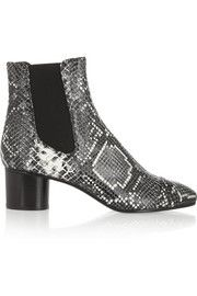 Isabel MarantDanae snake-effect leather ankle boots