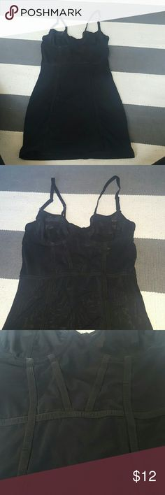 Forever 21 small black mesh stretch nightgown size small worn once like new mesh corset style nightgown Intimates & Sleepwear Pajamas
