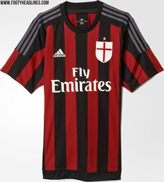 AC Milan 15-16 Kits Revealed - Footy Headlines Camisas De Futebol 9a5907a313eb1