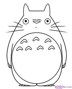 Totoro Coloring Pages Sewing Crafts Pinterest Totoro