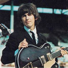 George Harrison's '62 Gretsch Guitar. Harrison was the youngest of the Beatles and was only 19 when they started recording in the early 60's. It's amazing how he learned to play so well, so young. He's still underrated as a guitarist.