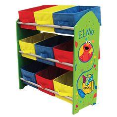 Sesame Street Elmo Toy Organizer Shelf with 9 storage bins Toy Bin Organizer, Toy Organization, Organizers, Sesame Street Room, Sesame Streets, Elmo Toys, Storage Bins, Storage Ideas, Room Themes