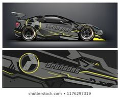 Abstract strip for racing car wrap, sticker, and decal. Vinyl For Cars, Racing Car Design, New Luxury Cars, Porsche Cars, Car Brands, Car Painting, Rally Car, Car Wrap, Portfolio