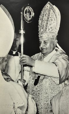 """On the Symbolism of the CrosierThe crosier is symbol of authority and jurisdiction. This idea is clearly expressed in the words of the Roman Pontifical with which the staff is presented to the bishop elect: """"Accipe baculum pastoralis officii; et sis in corrigendis vitiis pies viens, judicium sine irâ tenens, in fovendis virtutibus auditorum animos mulcens, in tranquillitate severitatis censuram non deserens"""" (Pont. Rom. 77). It is then, as Durandus (Rationale Divin. Off., III, xv..."""