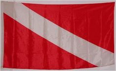 Diver Down FLAG - - - - - 3ft by 5 ft - - - Dive FLAG by WILDFLAGS. $5.49. 3x5 Polyester. 4 rows of Sewing on Fly Side. Diver Down FLAG 3ft by 5 ft Dive FLAG