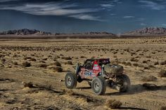 Running the GenRight 4485 buggy in King of The Hammers off road race.