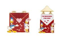Disney Pin ~ Disneyland Love Letter Donald and Daisy Duck