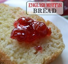 Home made English muffin bread is delicious toasted and slathered in butter that melts into all those nooks and crannies! Rib Recipes, Bread Recipes, Sweet Recipes, Baking Recipes, Dessert Recipes, Broccoli Recipes, Tofu Recipes, Avocado Recipes, Oven Recipes