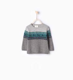 Jacquard knit deer sweater