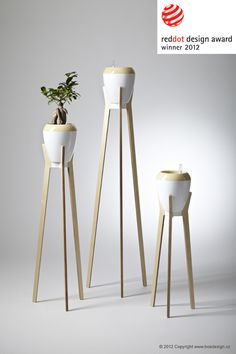 baobab' from the flower stand range by boadesign studio wooden plywood