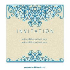 Retro invitation in ornamental style