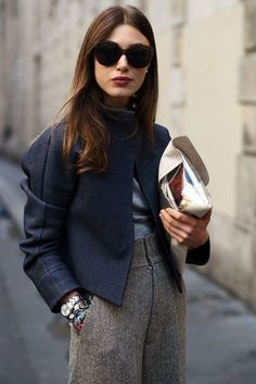 2013 Office Inspired Looks & Street Styles! What To Wear To Work This Winter? Estilo Fashion, Fashion Mode, Look Fashion, Fashion Trends, Net Fashion, French Fashion, Latest Fashion, Fashion Tag, Petite Fashion
