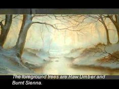 WINTER WOODLAND - an oil painting demonstration PART ONE by Alan Kingwell
