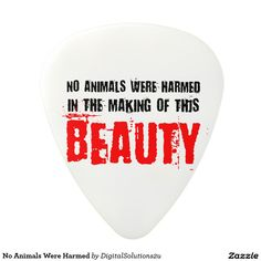 No Animals Were Harmed Polycarbonate Guitar Pick