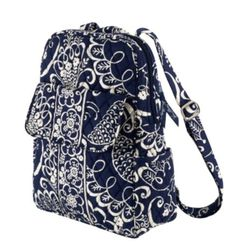 0a5d3693d3 small backpack Vera Bradley twirly navy birds So cute!
