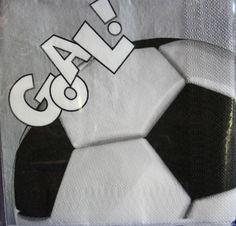 Tovaglioli di carta Palla da Calcio, 20 tovaglioli di carta cm.33x33 Soccer. Per feste a Tema e Compleanno. Disponibili da C&C Creations Store.