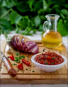 Ajvar - Macedonia dish made with fresh paprika.  Wonder if red bell pepper could be substituted?