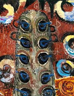 The Peacocks of the Looks : Ion Tuculescu : Expressionism : figurative painting - Oil Painting Reproductions Abstract Art Images, Abstract Oil, Abstract Expressionism, Post Impressionism, Oil Painters, Art Database, Oil Painting Reproductions, Figure Painting, Art Blog