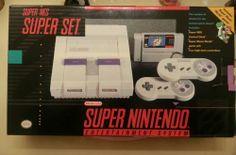 Super Nintendo SNES Vintage Video Game System Console Brand New *Super Mario Set - http://dynamicvideogames.com/2014/03/02/super-nintendo-snes-vintage-video-game-system-console-brand-new-super-mario-set/