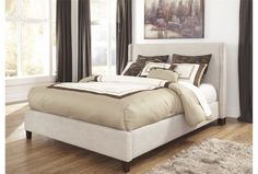 Hillary California King Upholstered Panel Bed only $350!