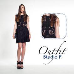 ¿Qué tal este vestido negro con encaje para irte de fiesta con tus amigas? #costarica #modacostarica #salvador